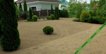 Укатка земли после посева