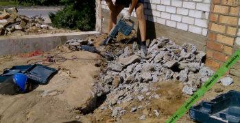 Разбивка бетонной плиты