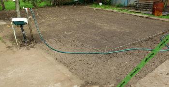 Утрамбованная и подготовленная почва